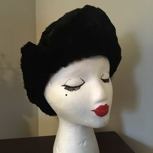 Vintage Black Fur Hat